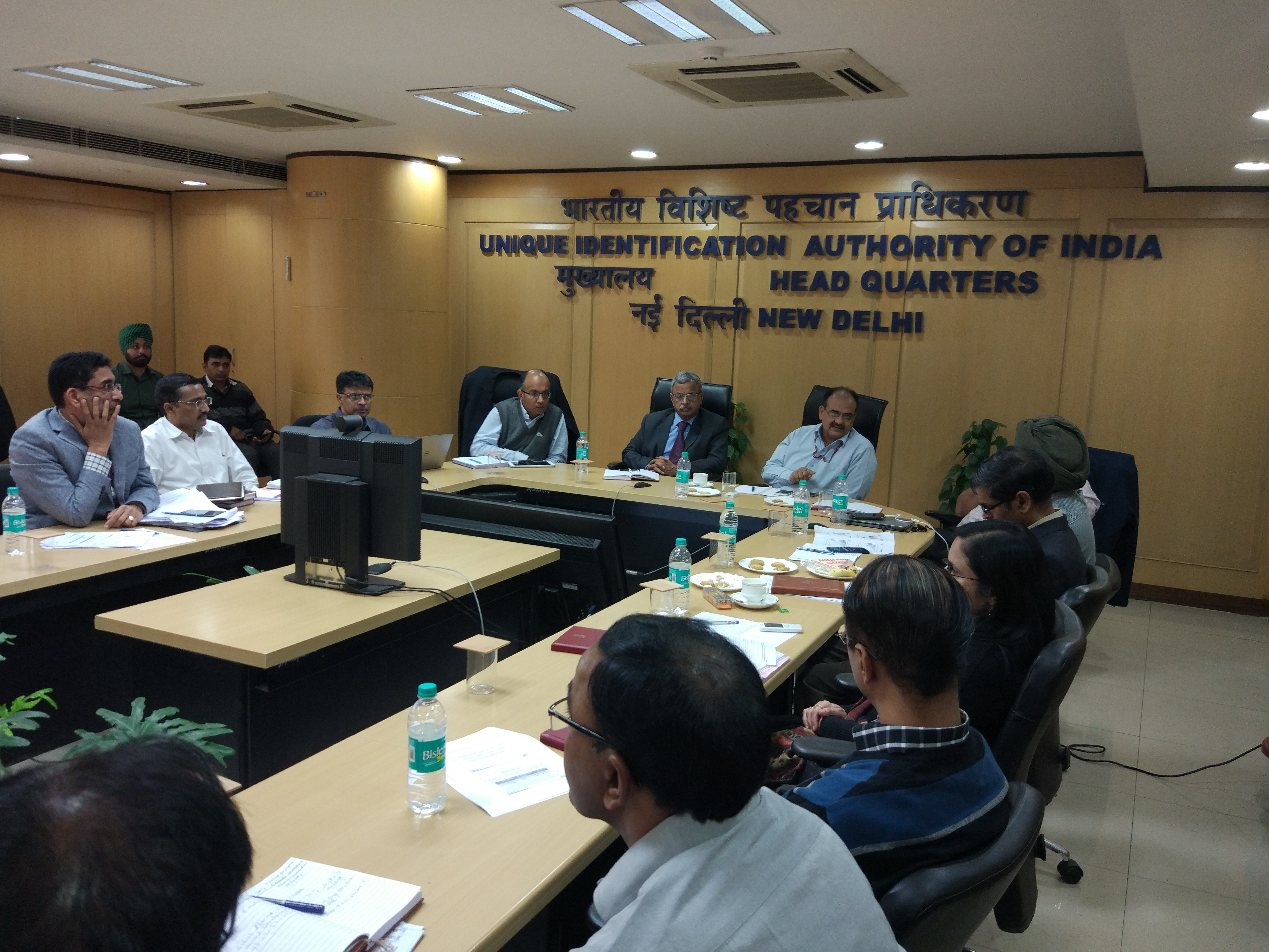 5th Aadhaar Authority Meeting in progress in Delhi HQ